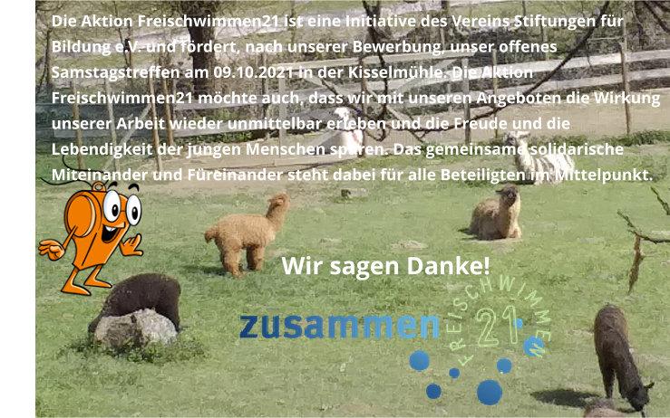 Dank an die Aktion Freischwimmen21 des Vereins Stiftungen für Bildung e.V.